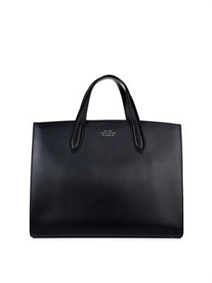 1887 leather and suede tote