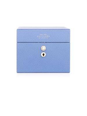 Panama mini leather jewellery box