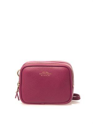 Panama leather box clutch