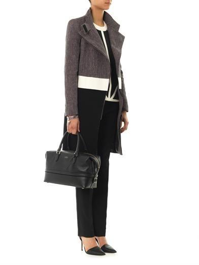 Smythson Leather clipper bag