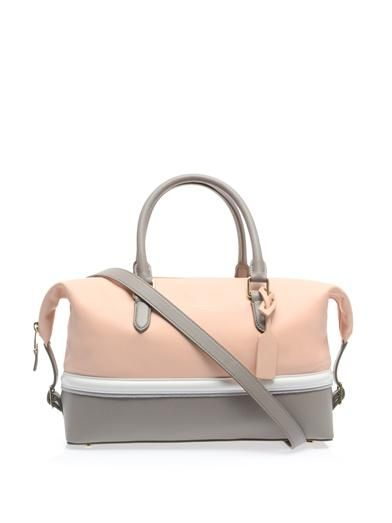 Smythson Leather clipper bag