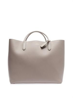 Panama leather tote