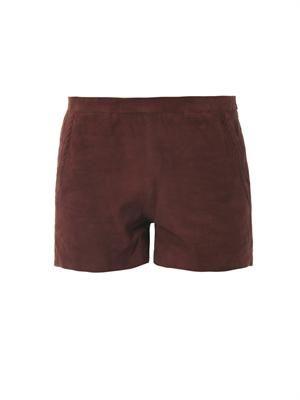 Nisha suede shorts