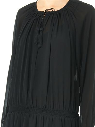 Talitha Indra silk-georgette dress