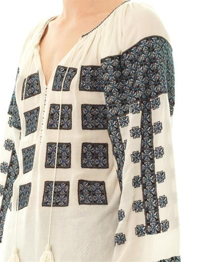 Talitha Tribal embroidered blouse