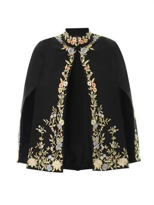 Embroidered opera cape