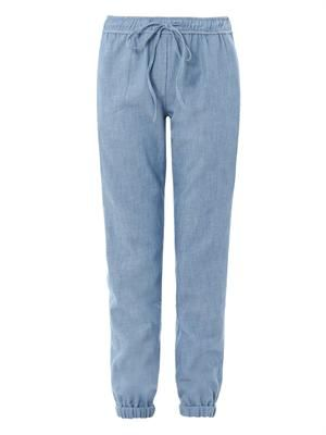 Relaxed chambray trousers