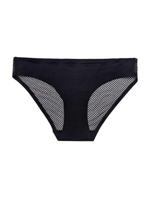 Smooth mesh-back briefs