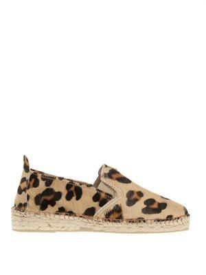 Leopard-print calf hair espadrilles