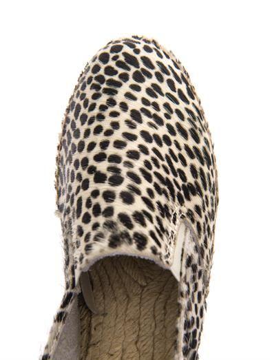 Prism Dalmatian-print calf-hair espadrilles