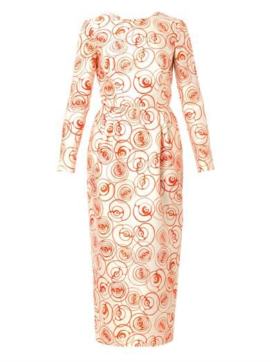 Caterina Gatta Roses-print crepe dress