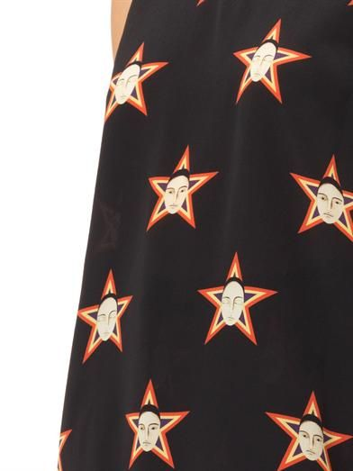 Caterina Gatta Faces and stars-print silk top