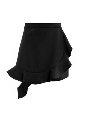 Ruffled neoprene skirt
