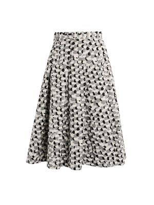 Paint brush print skirt