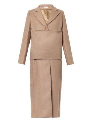 Wrap-waist tailored coat