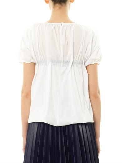 J.W. Anderson Gathered balloon blouse
