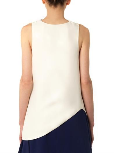 J.W. Anderson Gathered-side crepe blouse