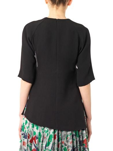 J.W. Anderson Satin-panel crepe blouse