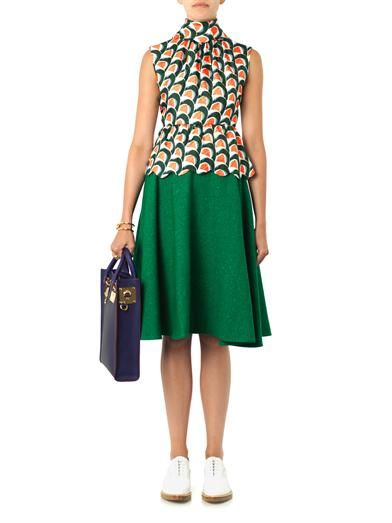 J.W. Anderson Wave-print silk blouse