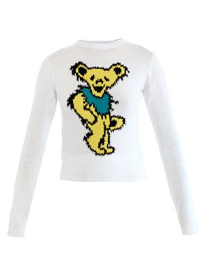 Bear-print sweater