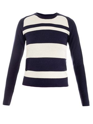 Cashmere silk stripe sweater