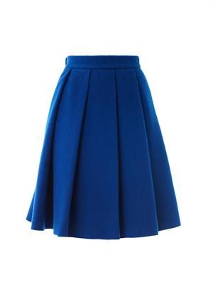 Ten pleat wool skirt