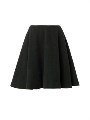 Fuzzy wool A-line skirt