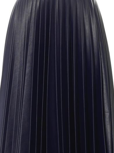 J.W. Anderson Fully pleated faux-leather skirt