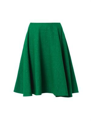 Speckled-wool A-line skirt