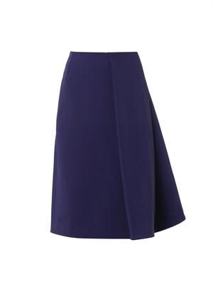 Sail wool-blend A-line skirt