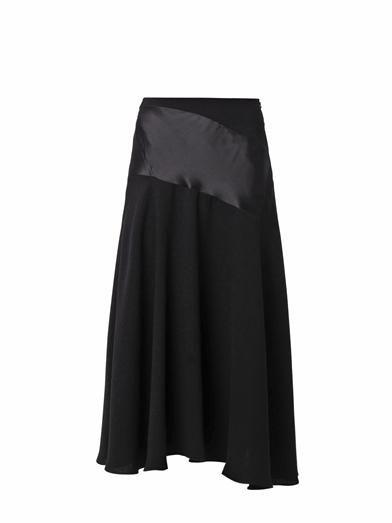 J.W. Anderson Satin and crepe midi skirt
