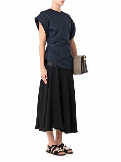 J.W. Anderson Satin and crepe midi skirt