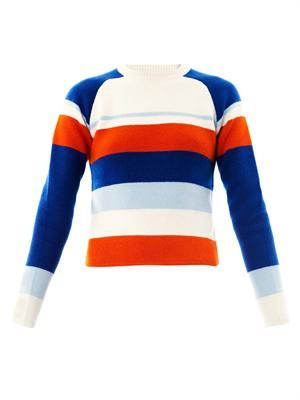 Raglan stripe sweater