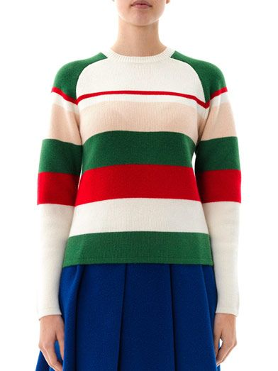 J.W. Anderson Striped crew-neck knit sweater