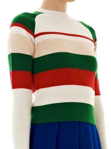 J.W. Anderson Striped crew-neck knit sweater