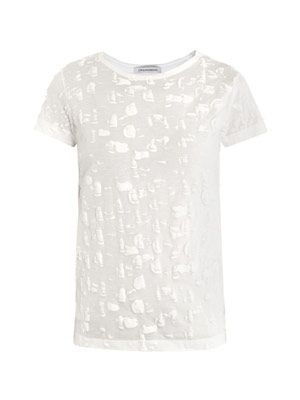 Paintbrush textured T-shirt