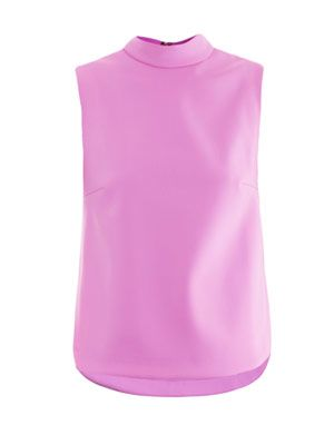 Priest collar neoprene blouse