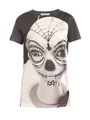Skull-print boy fit T-shirt