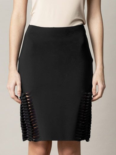 Dion Lee Neoprene plaited-front skirt