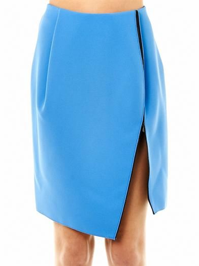 Dion Lee Zip slit crepe skirt
