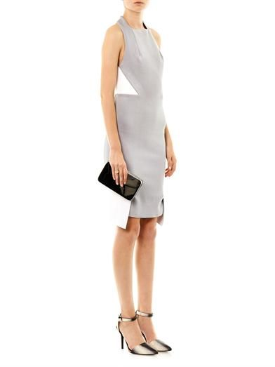 Dion Lee Leather and knitted fitted dress
