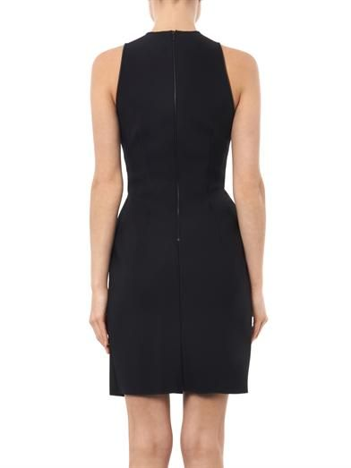 Dion Lee Pleat-front neoprene dress
