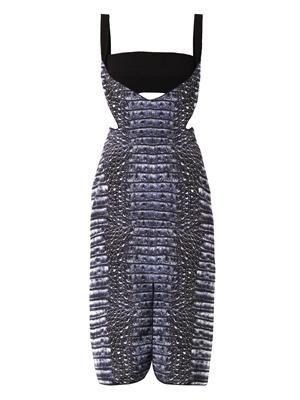Cut-away croc-print dress