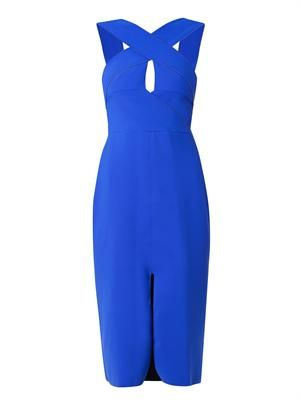 Cut-away bonded-jersey dress