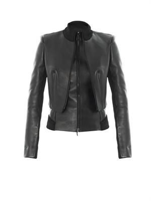 Double-layer leather jacket