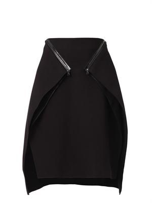 Bonded-crepe skirt
