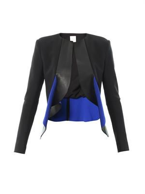 Bonded-leather neoprene jacket