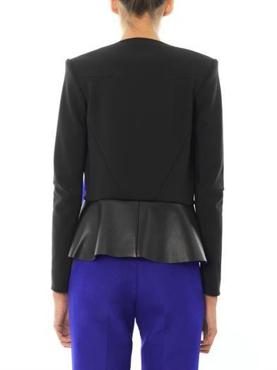 Dion Lee Bonded-leather neoprene jacket