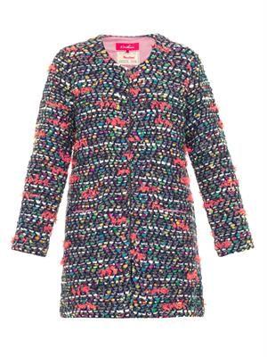 Wonderland tweed-knit cardigan