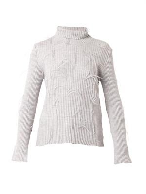 MARQUES'ALMEIDA Ostrich-feather wool sweater
